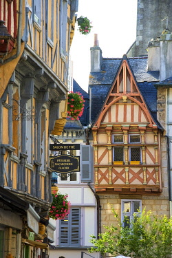 France, Brittany, Finistere, Quimper, medieval houses on Kereon street