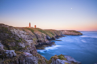 France, Brittany, Cotes d'Armor, Emerald Coast, Plevenon, Frehel Cape and its lighthouses, including a Vauban lighthouse