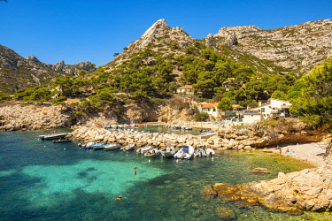France, Provence-Alpes-Cote D'Azur, Bouches du Rhone, Marseille, the calanque de Sormiou, Calanques National Park
