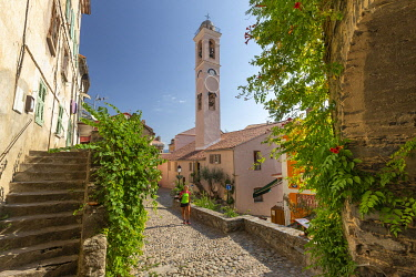 France, Corsica, Corsica, Haute-Corse, Corte, the old town and its 15th century citadel