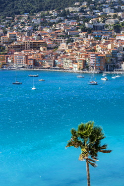 France, Alpes-Maritimes, Villefranche-sur-Mer, the old town and the Rade de Villefranche
