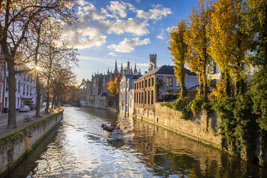 Belgium, Western Flanders, Bruges, historical centre listed as World Heritage by UNESCO, Dijver canal