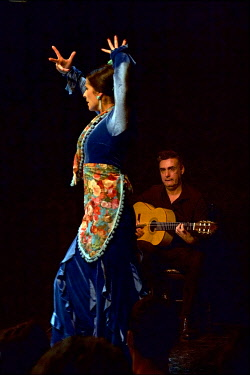 Spain, Andalusia, Sevilla, Alfalfa district, Museo del Baile Flamenco, Museum of Flamenco, Flamenco show