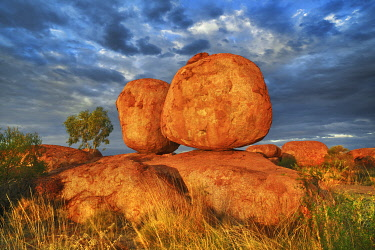Rock formation at Devils Marbles - Australia, Northern Territory, Devils Marbles