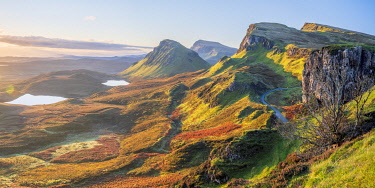 UK, Scotland, Highland, Isle of Skye, Trotternish Peninsula, Trotternish Ridge viewed from the Quiraing