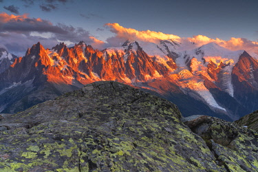 Sunset with a view, Chamonix Valley, Chamonix Mont Blanc, Haute-Savoie, France