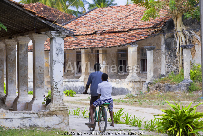 Crumbling colonial villas on Ibo Island, part of the Quirimbas Archipelago, Mozambique