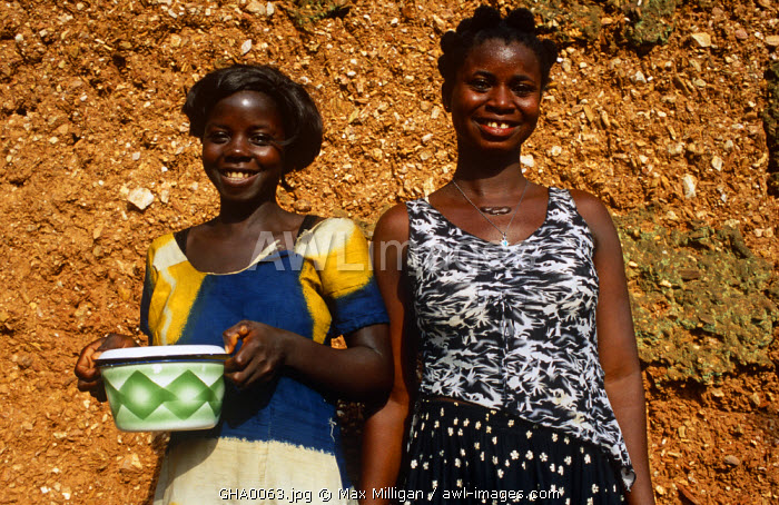 Awl Images Ghana Volta Region Shairi Girls With Typical
