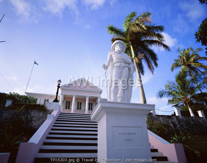 Columbus Statue, Nassau, Bahamas, Caribbean Islands