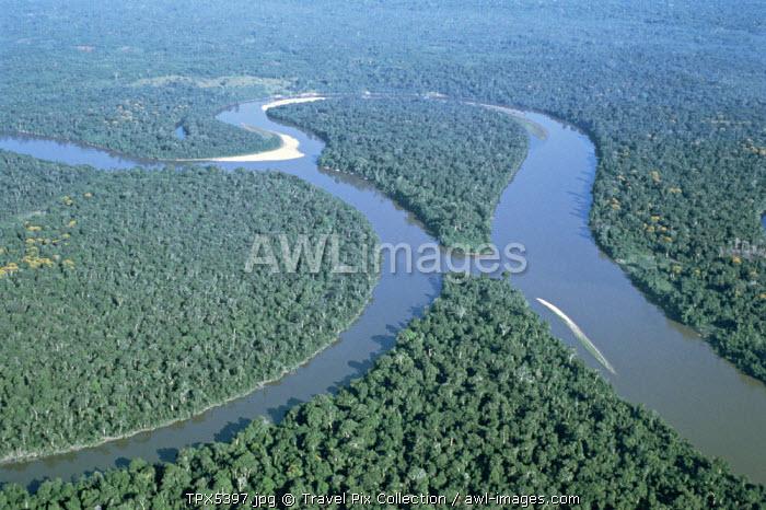 Amazon River / Amazon Jungle / Aerial View, Brazil