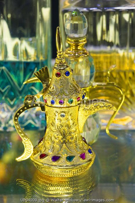 Bahrain, Manama, Gold City Shopping Center, Arabian Perfume Containers
