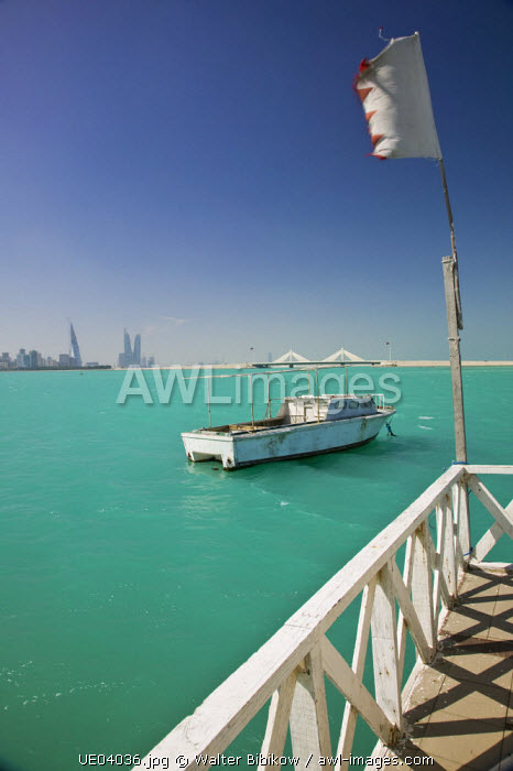 Bahrain, Manama, Manama Skyline from Muharraq