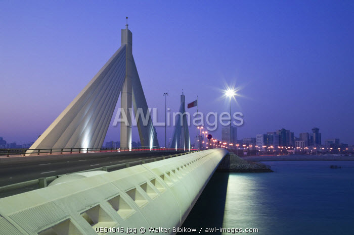 Bahrain, Manama, Sheikh Isa Causeway Bridge (between Manama and Muharraq Island)