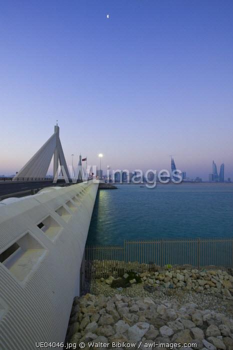 Bahrain, Manama, Sheikh Isa Causeway Bridge (between Manama and Muharraq Island)