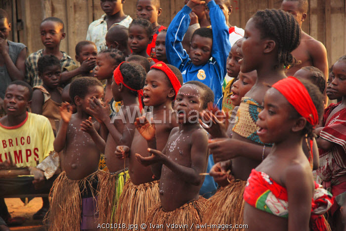 Traditional festival in Bayanga Village, SW Central African Republic