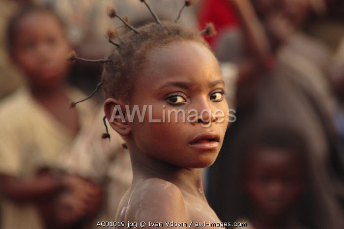 Portrait of a girl, Bayanga Village, SW Central African Republic