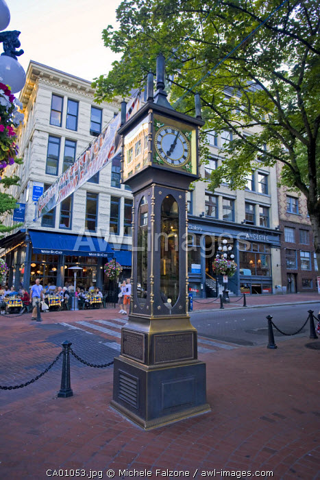 Steam Powered Clock, Gastown Historic District, Vancouver, British Columbia, Canada