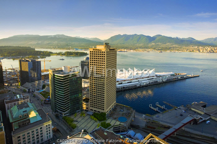 Harbour & Canada Place Complex from LOOKOUT! Tower, Vancouver, British Columbia, Canada