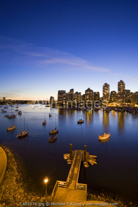 False Creek and Vancouver Skyline, British Columbia, Canada