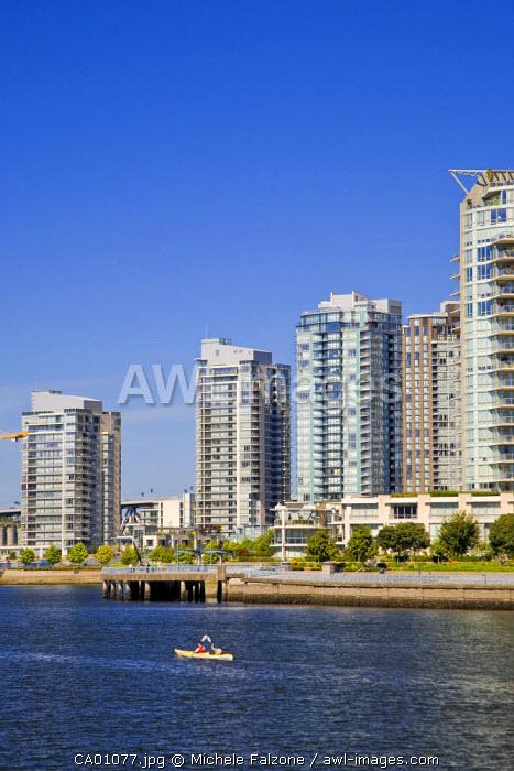 False Creek and Vancouver Skyline, Vancouver, British Columbia, Canada