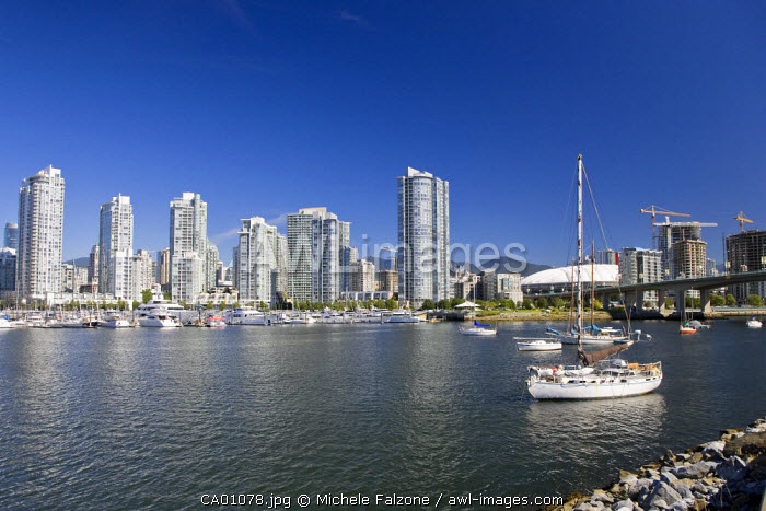 False Creek and Vancouver Skyline, Vancouver, British Columbia, Canada