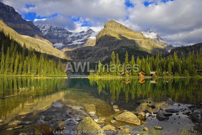 Lake O'Hara and Lake O'Hara Lodge, Yoho National Park, British Columbia, Canada