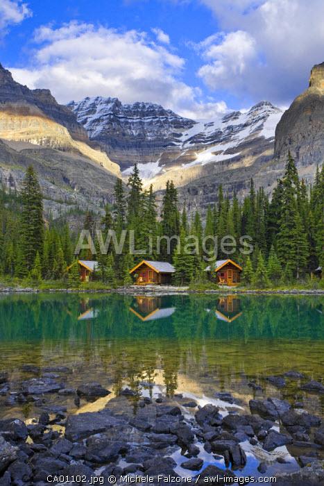 Lake O'Hara and Lake O'Hara Lodge, Yoho National Park, British Columbia, Canada