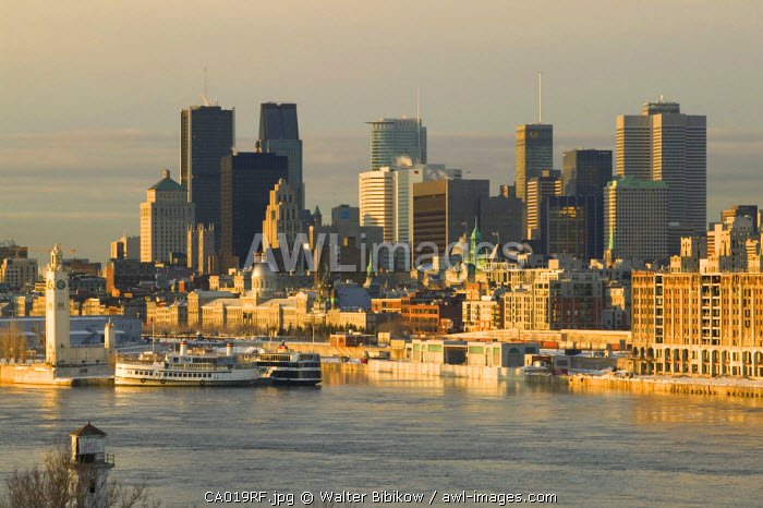 View from Jacques Cartier Bridge, Montreal, Quebec, Canada