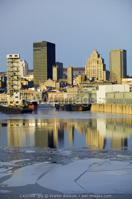View from Old Port area, Montreal, Quebec, Canada