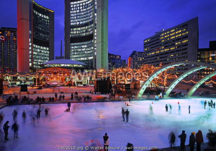 Phillips Sq. Skating Rink, Toronto, Ontario, Canada