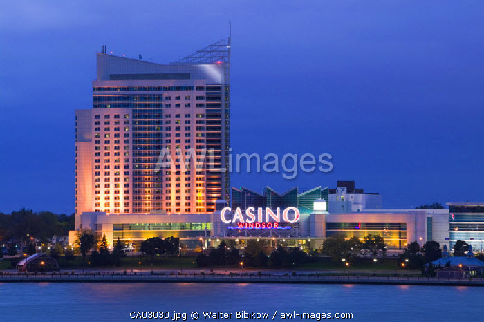 Windsor Casino by the Detroit River, Windsor, Ontario, Canada
