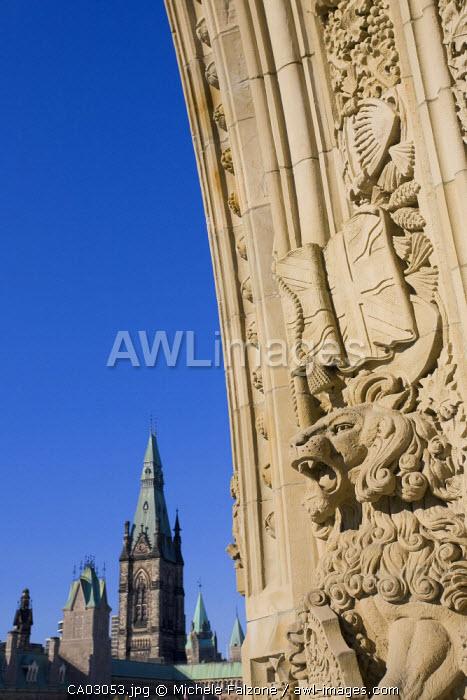 Stone Carving, Canadian Parliament, Parliament Hill, Ottawa, Ontario, Canada