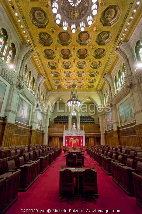 Senate Chamber, Canadian Parliament, Parliament Hill Ottawa, Ontario, Canada