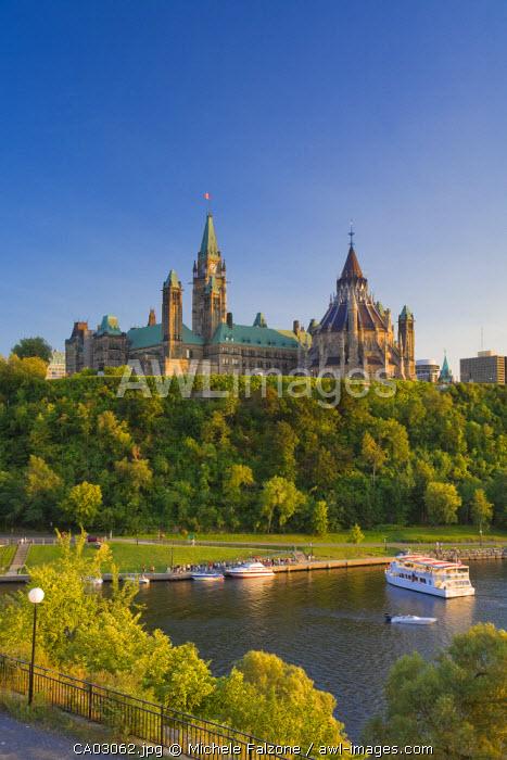 Parliament Hill and Ottawa River, Ottawa, Ontario, Canada