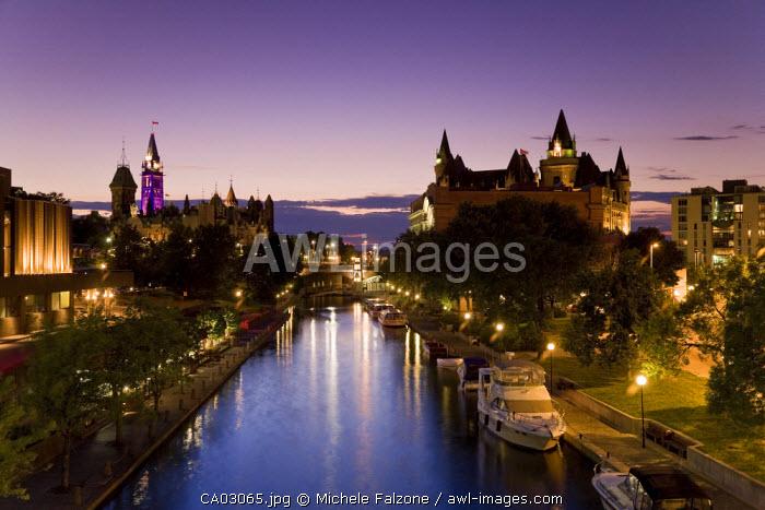 Rideau Canal and Ottawa Skyline, Ottawa, Ontario, Canada