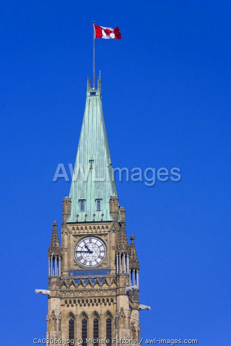 Peace Tower and Clock, Parliament Hill, Ottawa, Ontario, Canada