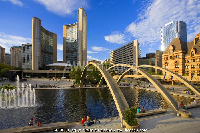 Nathan Phillips Square and Toronto City Hall, Toronto, Canada
