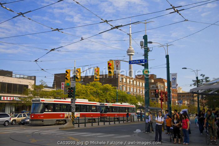 Tram, Chinatown, Toronto, Ontario, Canada