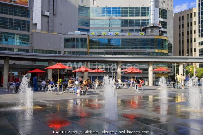Dundas Square and Outdoor Cafes, Toronto, Ontario, Canada