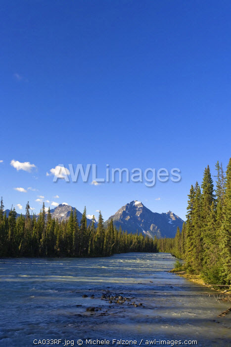 Whirlpool Peak, Mt. Fryatt and Whirlpool River, Jasper National Park, Alberta, Canada