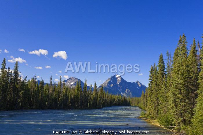 Whirlpool Peak, Mt. Fryatt and Whirlpool River, Jasper National Park, Alberta, Canada