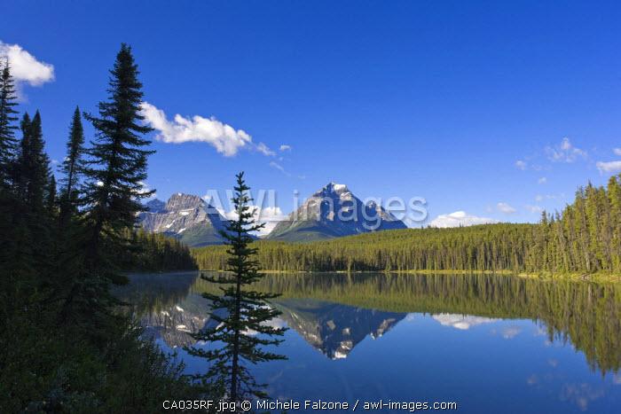 Whirlpool Peak, Mt. Fryatt and Leech Lake, Jasper National Park, Alberta, Canada