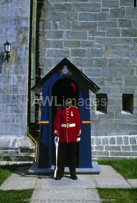 Guard outside Citadelle, Quebec City, Quebec, Canada