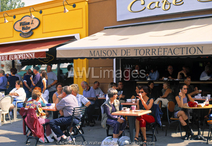 Cafe, Montreal, Quebec, Canada