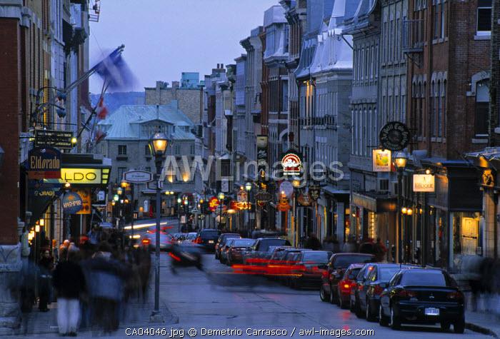 Rue de St. Jean, Quebec City, Quebec, Canada