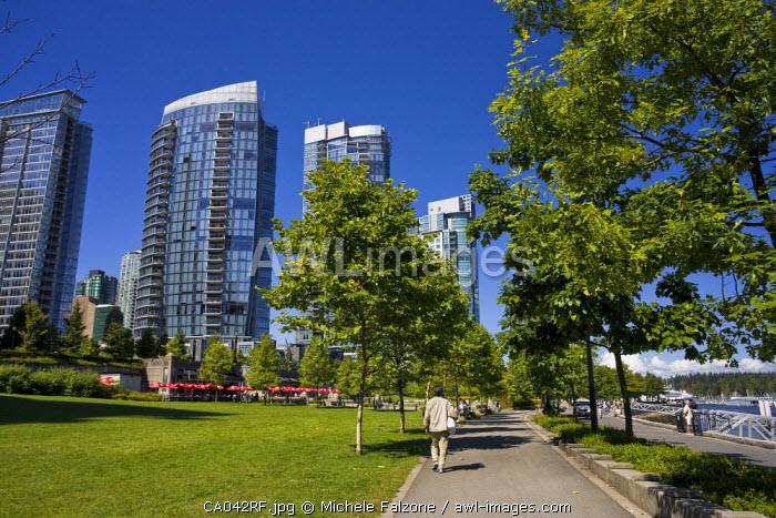 Coal Harbour Seawalk, Downton Vancouver, British Columbia, Canada