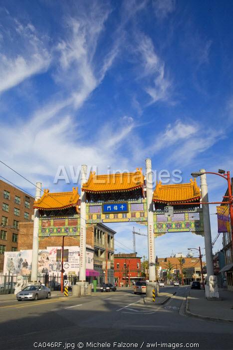 Chinese Gate, Chinatown, Vancouver, British Columbia, Canada