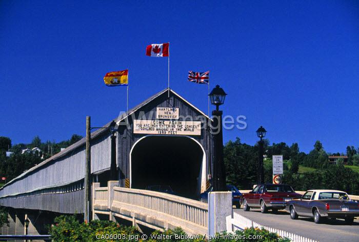 World's Longest Wood Covered Bridge, Hartland, New Brunswick, Canada