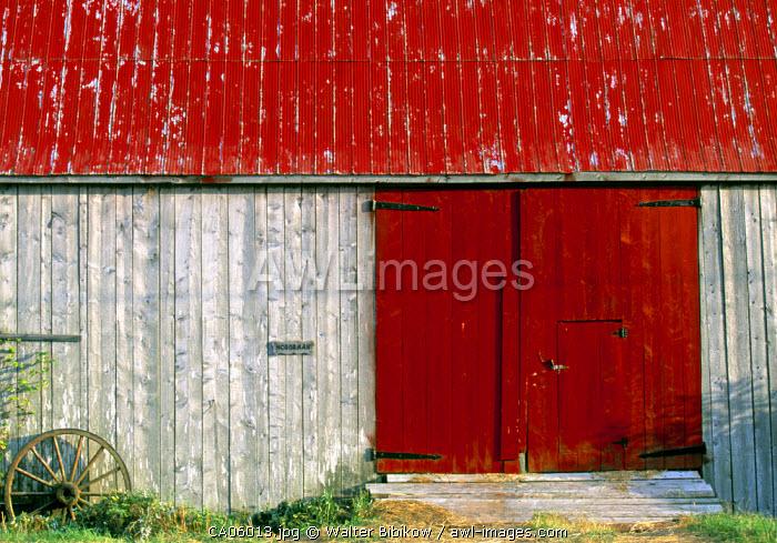 Barn door, Shepody, New Brunswick, Canada