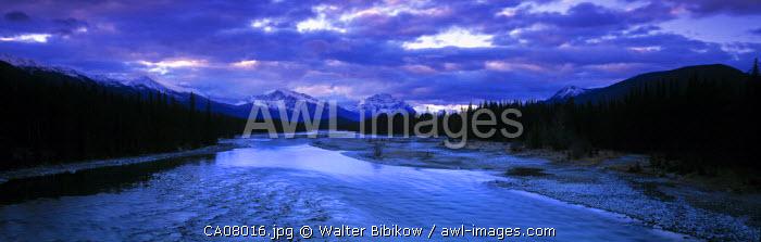 Athabasca river,  Jasper NP, Alberta, Canada